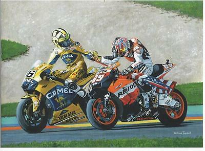 Rossi and Hayden,Valencia 2006 art print