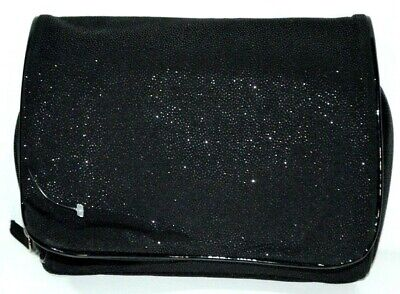 Lancome Makeup Case Travel Bag Cosmetic Pouch Black Clutch Sparkle Magnetic Magnetic Cosmetic Case