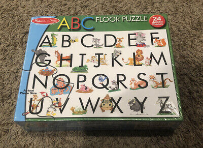 ABC Puzzle Giant Floor Melissa And Doug Jumbo 24 Pieces BRAND NEW AND SEALED