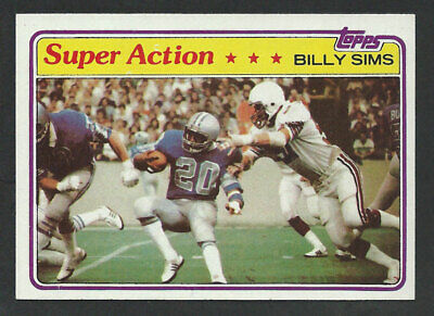 1981 Topps #473 BILLY SIMS Detroit Lions ROOKIE Heisman Trophy Winner 1978