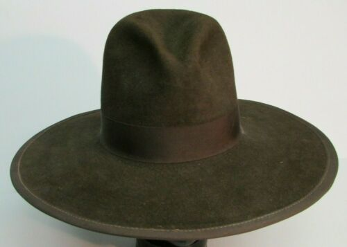 GUS TOM MIX 8X BEAVER  TEXAS COWBOY HAT Size 7 3/8 BROWN SASS MOVIE PROP HOUSE
