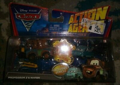Brand NEW Disney Pixar Cars 2 Action Agents Professor Z and Mater Sealed 2010!