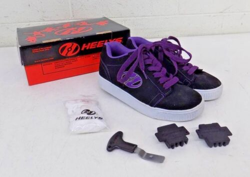 Heelys Straight Up Black/Purple/White Roller Skate Shoes US Youth 4 EU 35 GREAT