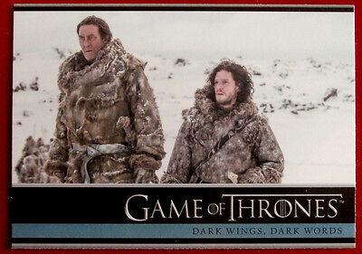 GAME OF THRONES - DARK WINGS, DARK WORDS - Season 3, Card #06 - Rittenhouse 2014