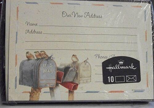 Hallmark 10 NEW ADDRESS Announcements Marjolein Bastin Feature BIRDS on MAILBOX