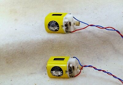 SET OF TWO NEW VINTAGE K&B BOBCAT 36D 12 VOLT MABUCHI SLOT CAR MOTORS 1960's