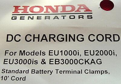 Honda Eu1000i Eu2000i Eu3000is 12v Battery Charging Cord 32650-892-010ah