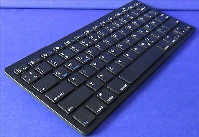 Bluetooth V 3.0  Wireless Tastatur Keyboard Handy Tablet Slim Design Schwarz