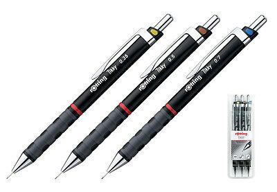 Rotring Tikky Mechanical Pencil Set, Black, 0.35 - 0.5 - 0.7 mm on Rummage