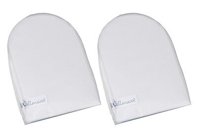 Wellmaxx Reinigungshandschuh Waschhandschuh für die Gesichtspflege, 2er Pack (Weiße Make Up Für Gesicht)