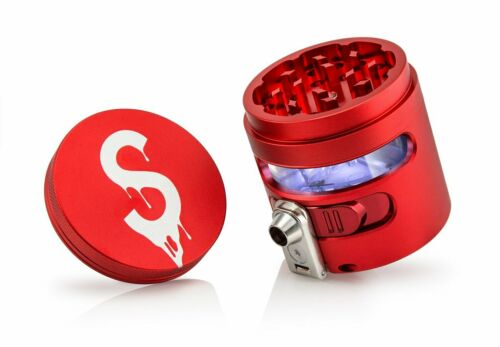 Cloudious9 Saucey Tectonic9 Auto Dispensing Grinder Red New HERB