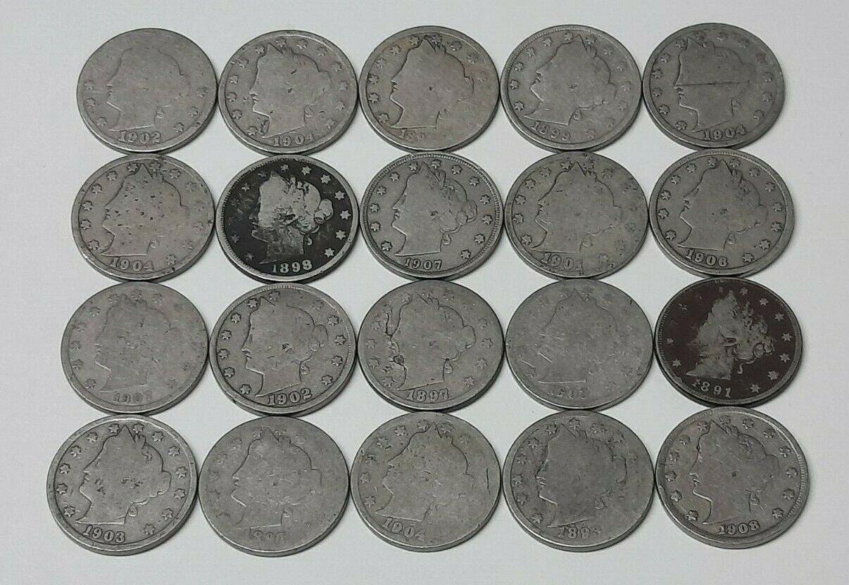 Half Roll Liberty V Nickels--1891-1908 - $11.50