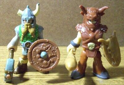 FISHER PRICE IMAGINEXT VIKING & BARBARIAN KNIGHTS with WEAPONS & SHIELDS