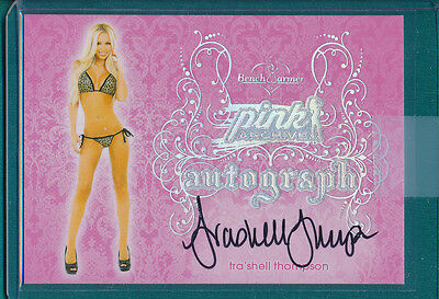 2015 Benchwarmer TRASHELL THOMPSON Autograph Card PINK ARCHIVE