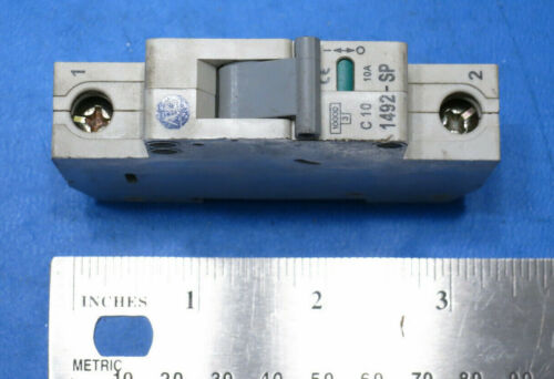 Allen-Bradley 1492-SP1C100 DIN Rail 1-Pole Circuit Breaker - 10A C-Curve TESTED
