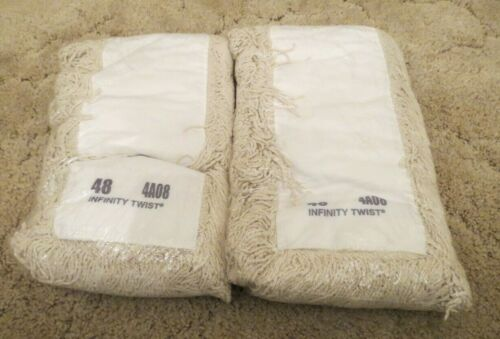 """New Infinity Twist Dry Dust Mop Head 48"""" x 6"""" 4A08 Commercial Grade Lot of 2"""
