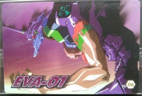 EVA-01 Test Type EVANGELION Card Japanese Anime Manga Rare V-06 wafer chap9 F/S