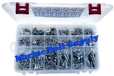 Type 316 Stainless Steel Master Hex Head Bolt Assortment Kit Marine Grade