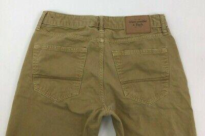 Vintage Abercrombie Fitch Button Fly Beige Khaki Pants Mens 30x30 (30x29.5)