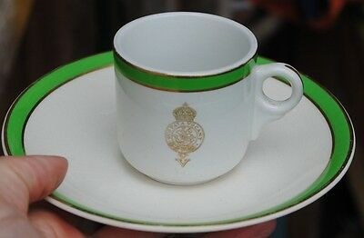 V Northumberland Fusiliers coffee cup (small chip to saucer)