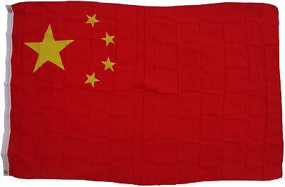 Flagge China 90 x 150 cm mit 2 Metallösen Hissen Hissfahne Flag Hissfahne Asien