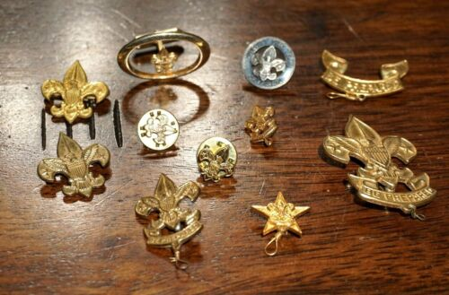 Lot of 11 Eagle ? & Boy Scouts of America BSA Pins and Awards Vintage