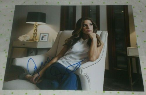 ANA ORTIZ SIGNED SPANISH BEAUTY IN THOUGHT 8X10 PHOTO AUTO COA UGLY BETTY MAIDS