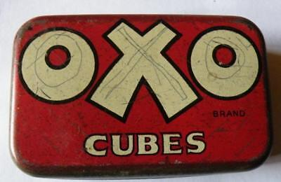 Vintage Oxo tin with interesting inner lid