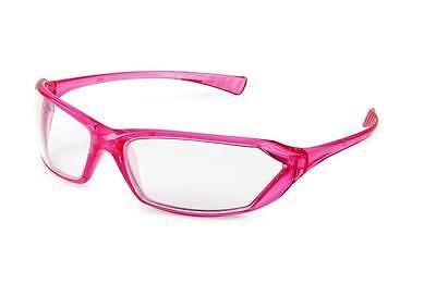 Gateway Metro Pink Frame Clear Lens Safety Glasses Womens Girlz Gear Z87
