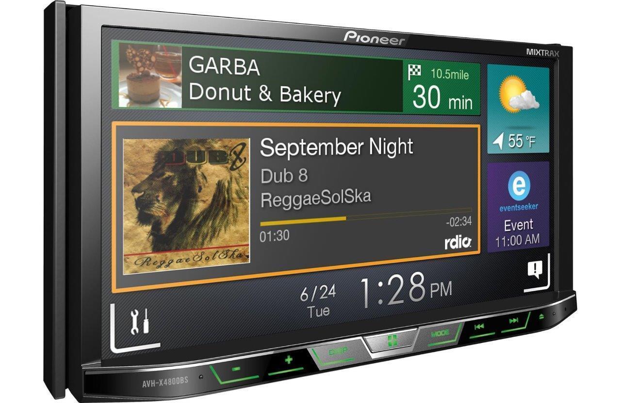 New pioneer avh x490bs double 2 din dvd cd player 7 bluetooth spotify pandora