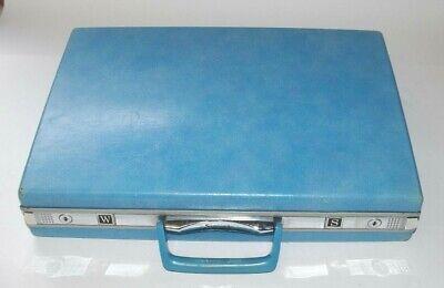 Rare, Late 1960s, blue, samsonite, briefcase / attache case. No keys.