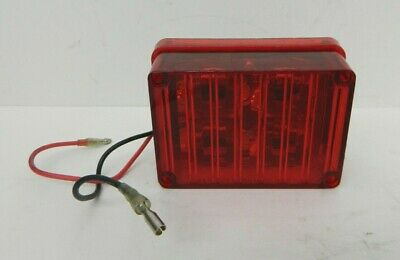 Tomar Electronics 4 Red Brake Light Rect-34clw-r