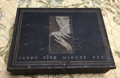VINTAGE CUTEX FIVE MINUTE SET TIN NAIL POLISHING VANITY ITEM