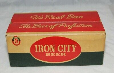 Vintage Small Iron City Beer Point Of Sale Advertising Cardboard Beer Case