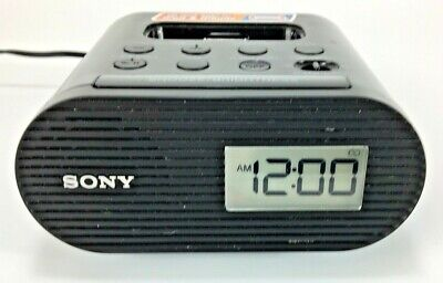 Sony Genuine Alarm Clock Radio AM/FM With Apple iPod & iPhone Dock  ICF-C05iP