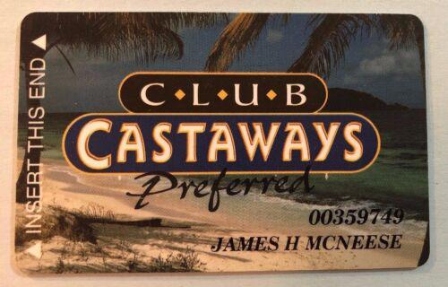 Club Castaways Preferred Blue & Tan Casino Players OlderSlot Card Closed Casino