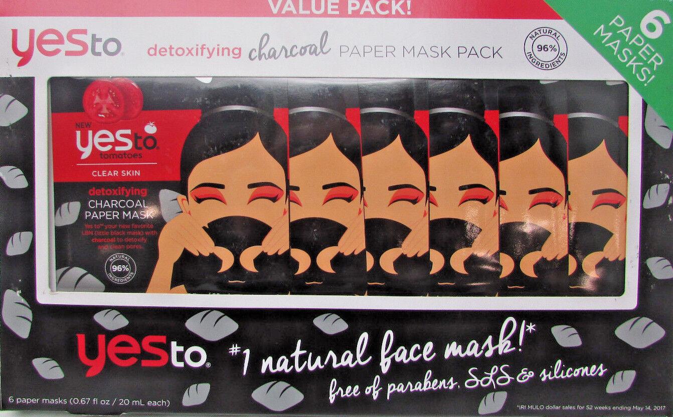 new detoxifying charcoal paper mask 6 pk