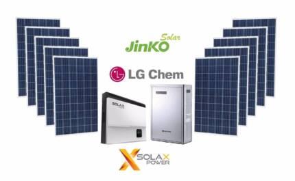 LIMITED TIME! 5.95kW Jinko Solar + SolaX Hybrid + 6.4kWh LG Chem