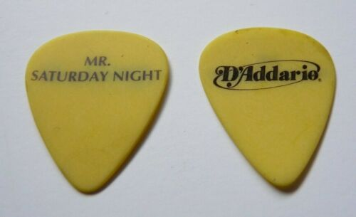 THE OFFSPRING VINTAGE BLACK ON YELLOW TOUR ISSUED GUITAR PICK MR SATURDAY NIGHT