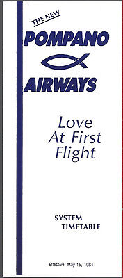 Pompano Airways system timetable 5/15/84 [6114]
