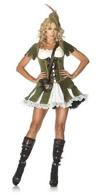 Thief of Hearts Robin Hood Lady Leg Avenue Halloween Costume ML (Female Robin Hood Halloween Costumes)