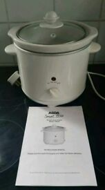 Asda white electric 1.8l slow cooker with manual