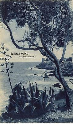 GENOVA NERVI MORMORIO D'ONDA VIAGGIATA 1936