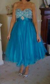 Blue prom/bridesmaid dress