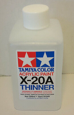 Tamiya Paint Thinner X-20A 250ml Bottle Item #81040