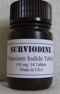 Potassium Iodide Tablets Iodine Pills 130mg Exp 2025 Thyroid Radiation Blocking