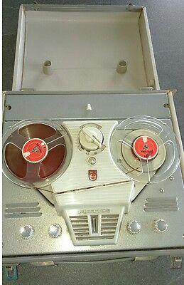 ancien enregistreur Magnétophone à bande Philips Vintage