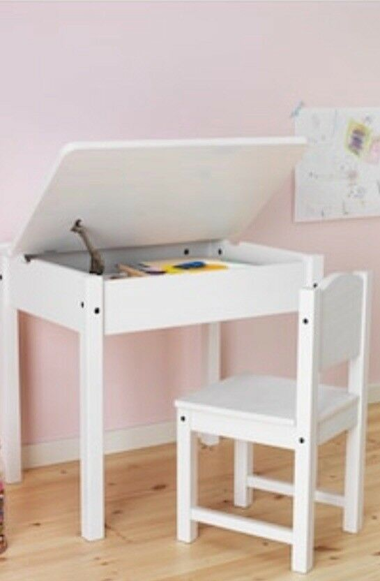 89a257c5ec87 IKEA SUNDVIK CHILDRENS WHITE DESK AND CHAIR