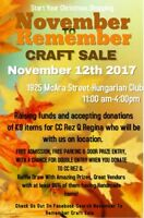 Craft Sale-Tables Available