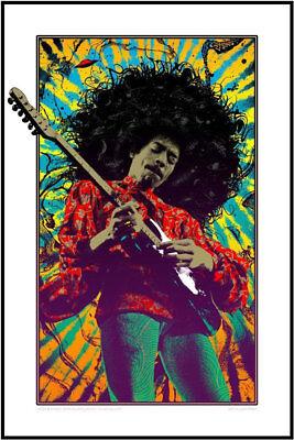 Jimi Hendrix Print Signiert Signed ADAM POBIAK Kunstdruck Druck Art Limited 190